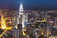 Malaysia, Kuala Lumpur, cityscape at night - GIOF000001