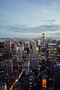 USA, New York State, New York City, Manhattan, Skyline in the evening - GIOF000007