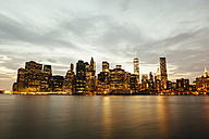 USA, New York State, New York City, Manhattan, Skyline and Hudson river in the evening - GIOF000010