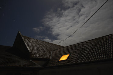 Illuminated roof window at night - BSCF000458