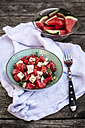 Fresh watermelon salad with feta cheese, mint and sesame - SARF001981