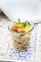 Glass of couscous salad - LVF003594