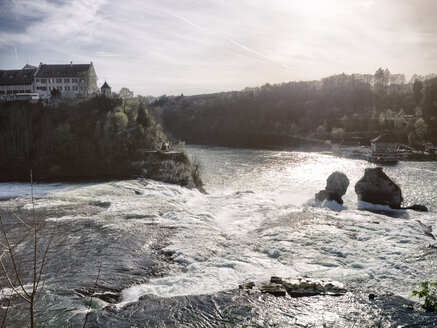 Switzerland, Schaffhausen, Rhine falls with Laufen Castle - KRP001489