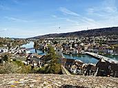 Switzerland, Schaffhausen, view to Rhine River and Feuerthalen - KRPF001507