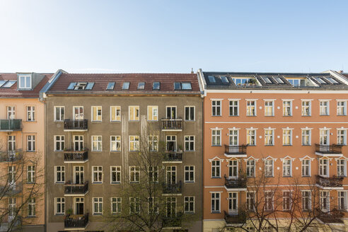Germany, Berlin, House fronts of residential buildings - TAM000029