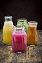 Four glasses of different smoothies - LVF003609