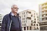 Germany, Hamburg, confident senior man outdoors - TAMF000076