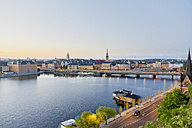 Sweden, Stockholm, view from Soedermalm to the old town - MSF004671
