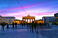 Germany, Berlin, view to lighted Brandenburger Tor - TAMF000148