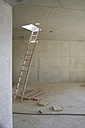 Ladder at skylight of an unfinished building - FMKF001575