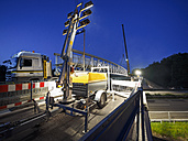 Germany, Kippenheimweiler, construction of a pedestrian bridge - LAF001417