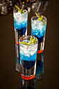Fresh cocktail with blue curacao liquer - JUNF000350