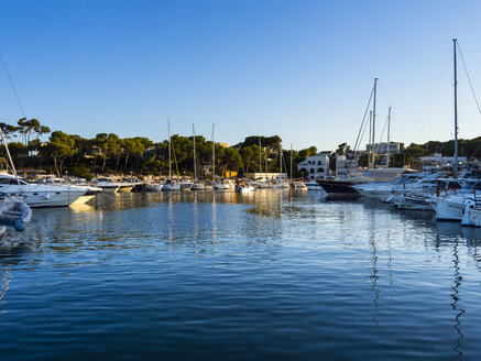 Spain, Mallorca, View of boats at Portopetro - AMF004096