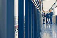 Group of business people standing on office corridor - CHAF000388