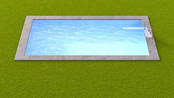 3D-Rendering, Swimming pool - UWF000549