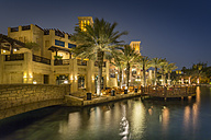 United Arab Emirates, Dubai, Souk Madinat at night - NKF000282