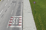Germany, Bavaria, Munich, speed limit sign - VIF000351