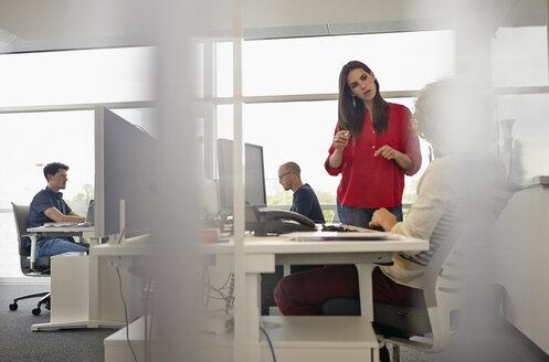 Colleagues working in open-plan office - RHF000951