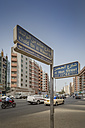 UAE, Dubai, road signs in the old part of the city - NKF000308