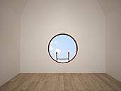 Empty room with oculus, 3D Rendering - UWF000562