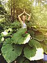 Belgium, Wallonia, woman practicing Yoga - GWF004316
