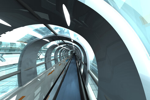 Futuristic subway or train station, 3D Rendering - SPCF000057