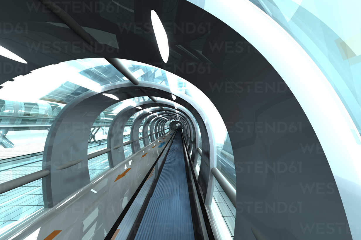 Futuristic subway or train station, 3D Rendering - SPCF000057 - Spectral/Westend61