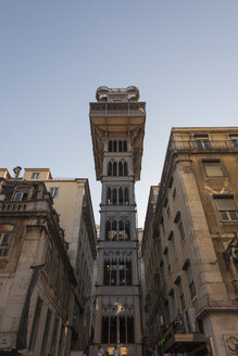 Portugal, Lisbon, view to Santa Justa Lift from below - HCF000133