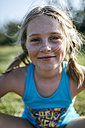 Portrait of blond girl with freckles - MGOF000345
