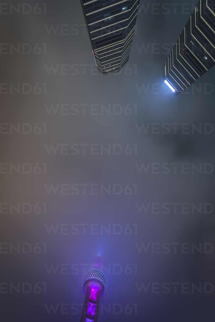 China, Shanghai, Oriental Pearl Tower and highrises at night - NKF000329 - Stefan Kunert/Westend61