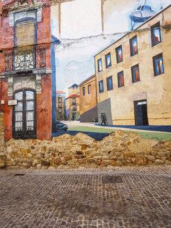 Spain, Zamora, Calle de Moreno, wall painting - LA001442