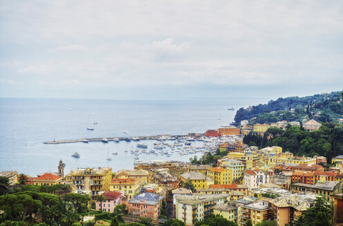 Italy, Liguria, view on Santa Margherita on a cloudy day - DIKF000138