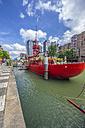 Netherlands, Rotterdam, Wijnhaven, red restaurant ship - THA001410