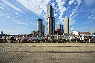 Netherlands, Rotterdam, Feijenoord, view to city centre - THA001414