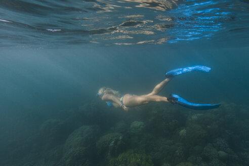 Indonesia, Bali, female snorkeller, snorkeling - TOVF000002