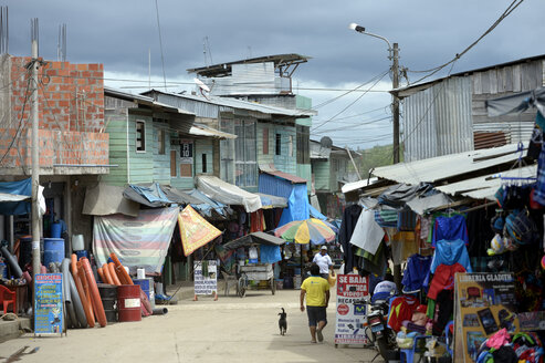 Peru, Departamento Madre de Dios, Gold mining city Labirinto - FLK000625
