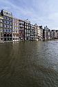 Netherlands, Amsterdam, Houses at town canal - THAF001420