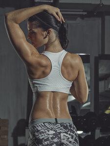 Portrait of a female athlete in gym - MADF000482