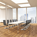 Modern conference room with parquet, 3D Rendering - UWF000581
