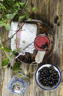 Glass of black currant smoothie - ODF001182