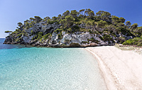 Spain, Balearic Islands, Menorca, view of Cala Macarelleta - MGOF000366