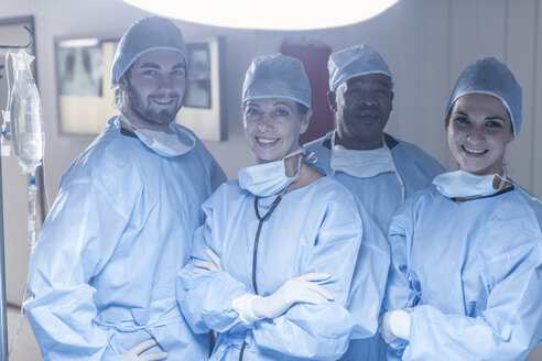Portrait of smiling surgical team - ZEF007467