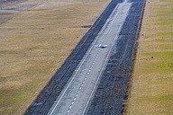 Germany, Bavaria, Oberschleissheim, Runway with Piper PA-34 Seneca - PED000024
