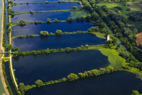 Germany, Ismaning, Isat storage lake and fish ponds - PEDF000142