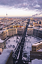 Germany, Berlin, Cityview with Leipziger Strasse in winter - ZMF000421