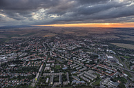 Germany, aerial view of Halberstadt at evening twilight - PVCF000605