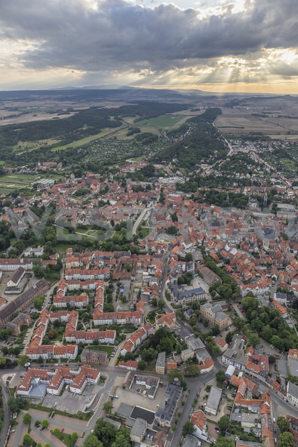 Germany, aerial view of Quedlinburg  in the evening - PVCF000548 - Patrice von Collani/Westend61
