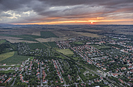 Germany, aerial view of Halberstadt at evening twilight - PVCF000559