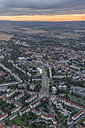 Germany, aerial view of Halberstadt at evening twilight - PVCF000561