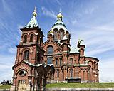 Finland, Helsinki, view to Uspenski Cathedral - FCF000733